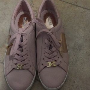 Michael Kors  Pink Leather Tennis shoes